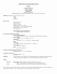 College Admission Resume Template Classy College Application Resume Template Cool College Admission Resume