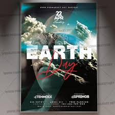 Earth Day Party Flyer Psd Template