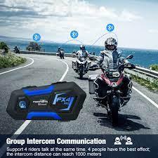Fodsports Fx4 Pro Xe Máy Liên Lạc Nội Bộ Mũ Bảo Hiểm Tai Nghe 4 Người Đi  Song Công Nhóm Interphone Moto Chống Nước Đài FM Nghe Nhạc Stereo / Xe máy