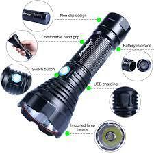 Đèn Pin Khẩn Cấp 100000lm Chống Nước Có Cổng Sạc Usb - Đèn pin