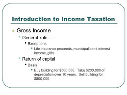 Based on that definition, life insurance proceeds paid out to a beneficiary don't count as part of their estate — because that money doesn't belong to. Introduction To Income Taxation Gross Income General Rule Exceptions Life Insurance Proceeds Municipal Bond Interest Income Gifts Return Of Capital Ppt Download