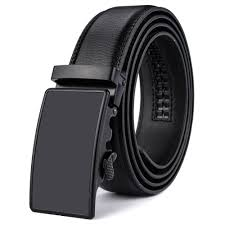 details about men s solid leather belt with 35mm wide automatic buckle ratchet waist strap