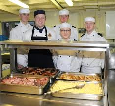 Navy Cook Royal Navy Cook Breakfast For Local School Royal Navy