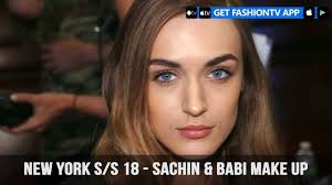 new york spring summer 2018 sachin make up fashiontv