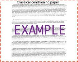 classical conditioning paper essay writing service classical conditioning paper