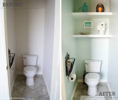 Add shelving over a lonely toilet.