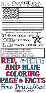 Select from 35450 printable crafts of cartoons, nature, animals, bible and you might also be interested in coloring pages from u.s. Red White Blue Usa Colors Meaning Free Printables Inkhappi