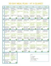 30 Day Healthy Eating Plan 30 Day Complete Clean Eating Meal Plan The Healthy Foodie