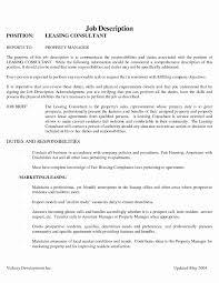 Assistant Property Manager Resume Awesome Propertyer Job Description