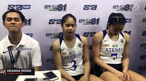 Deanna Wong: Ateneo starving to win over UP - video Dailymotion