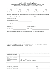 Free General Incident Report Form Template Letter Medium