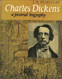 two great novelists j b priestley and charles dickens special detail of cover of charles dickens a pictorial biography by j b priestley