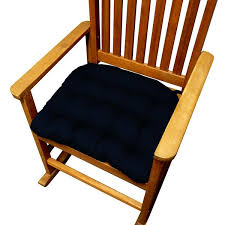blue rocking chair. Cotton Duck Navy Blue Rocking Chair Cushions - Latex Foam Fill C