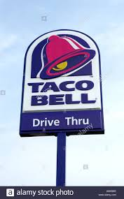 taco bell sign. Interesting Sign Taco Bell Fast Food Restaurant Sign  Stock Image To Sign C