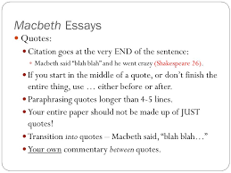 macbeth introduction essay paragraph i need help my introductory paragraph for my essay on macbeth