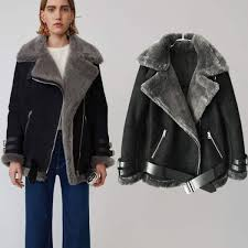 2018 winter women jacket sheepskin coats faux fur coat female er jacket thick warm coats biker faux suede leather jacket malaysia