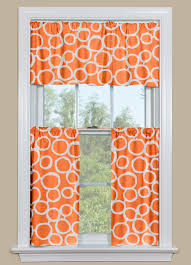 Orange And White Kitchen Retro Kitchen Curtains In Orange And White