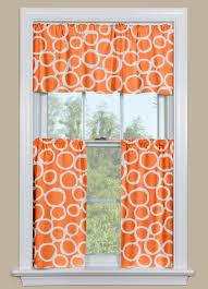 Valance Kitchen Curtains Retro Kitchen Curtains In Orange And White