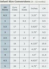 Baby Infant Shoe Size Chart Infants Shoe Chart 16 Desirable Shoe Size Chart Images