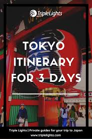 Triple Lights Tokyo Tokyo Itinerary Tokyo Up To 3 Days First Timers Japan