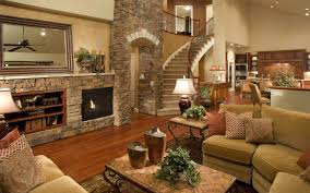 Amazing Beautiful Houses Interior Living Room With House