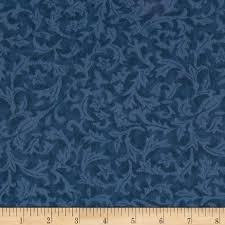 110  Wide Quilt Back Flannel Leaf Denim - Discount Designer Fabric ... & 110