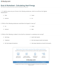 print what is heat energy facts calculation worksheet