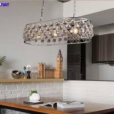 fumat modern k9 crystal lights nordic silver metal k9 crystal pendant lights restaurant bar re living room led deco lamps pendant track lights