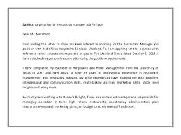 Sample Cover Letter For Hospitality Industry Cover Letter Hospitality Industry Examples