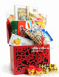 Small Picture Chinese Lunar New Year Flower Arranged Orchid Hamper Fruit