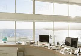 free home office. Sunny, Tranquil Modern Luxury Home Showcase Interior Office With Ocean View Free T