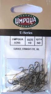 Umpqua Hooks Curved Straight Eye U203 Size 8