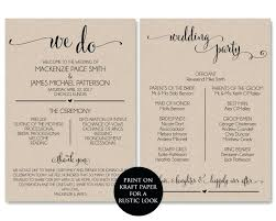 Wedding Program Template Printable We Do Ceremony Instant Download