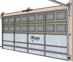 garage door insulation kit prodex insulation installed on a garage door