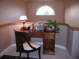 retro home office. OfficeSimple Retro Home Office Design With White Table Lamp And Wooden Desk Decor