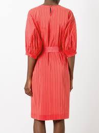 Blumarine Kleid mit gerüschtem Riemen 118 CORAL Damen Kleidung ...