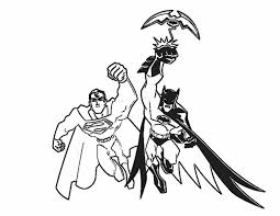 Small Picture Printable 18 Batman and Superman Coloring Pages 8597 Superman