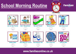Back To School Routine Chart For Kids