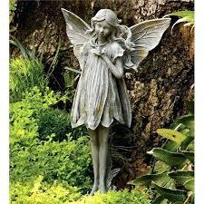 fairy garden statues. Pixie Garden Statues Fairy Ornaments Cherub Angel Stone A