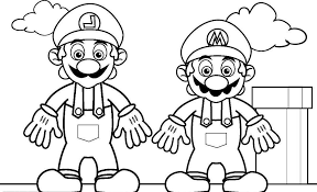 Coloring Pages For Kids Mario