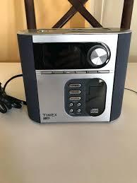 timex alarm clock radio nature sounds black