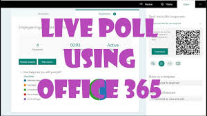 Office 365 Live Poll Your Audience Live Using Office 365 Tools Youtube