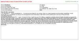 Ideas Of Cover Letter Examples For Health Educators Charming Best