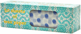 Rice Sandwich Paper With Polka Dot Print 50 Small Sheets Light Blue