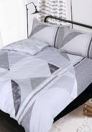 sleepdown reversible linear geometric bedding grey