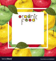 Apples To Apples Card Template Template Card With Colorful Apples Royalty Free Vector Image