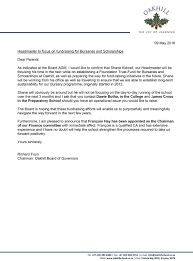 letter from the chairman of the board