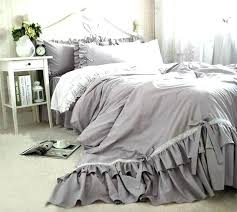 grey ruffle comforter light