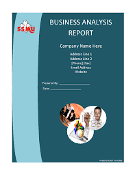 Analysis Report Template Word Business Analysis Report Template Free Formats Excel Word 2