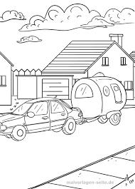 Kleurplaat Auto Met Caravan Gratis Kleurpaginas Om Te Downloaden